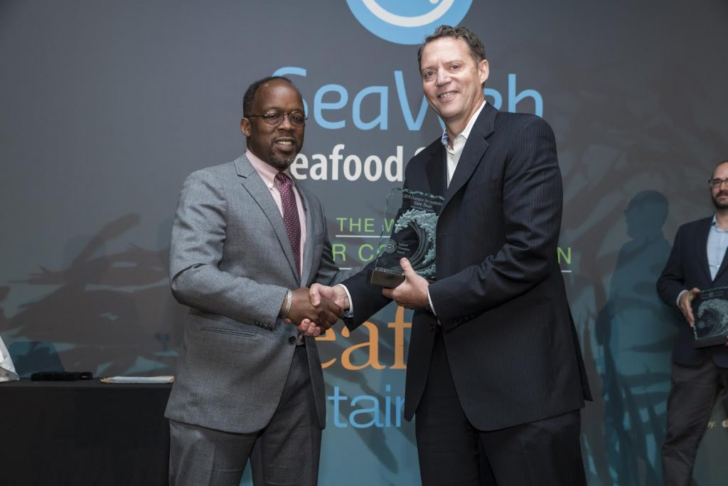 Guy Dean wins Seafood Champion Award for Leadership