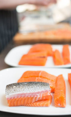 Cuts and quantities available for Kuterra Salmon